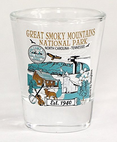 Great Smoky Mountains North Carolina Tennessee National Park Series Collection Shot Glass