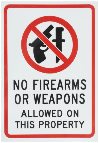 SmartSign Adhesive Firearms Weapons Property product image