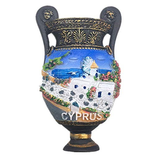 Fridge Magnet Cyprus 3D Resin Handmade Craft Tourist Travel City Souvenir Collection Letter Refrigerator Sticker