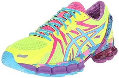 ASICS Women's Gel-Sendai 3 Running Shoe, Flash Yellow/Turquoise/Hot Pink, 5.5 M US