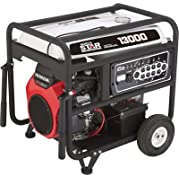 NorthStar Portable Generator - 13,000 Surge Watts, 10,500 Rated Watts, Electric Start, EPA and CARB-Compliant