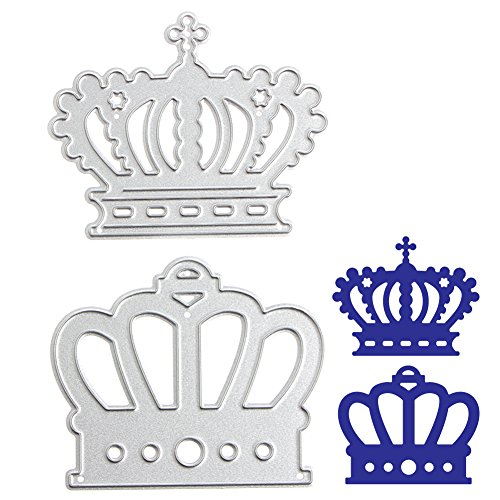 - Misright Crown/Hanger/Flower/Rectangle/Stars Die Cuts Creative Card Making Papercrafting Scrapbooking for DIY Carbon Steel Silver