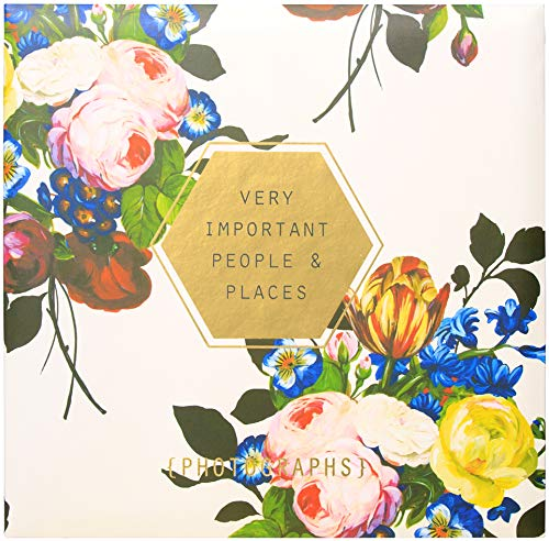 C.R. Gibson Floral 'Very Important People & Places' Magnetic Photo Album, 16 Pages, 13.5