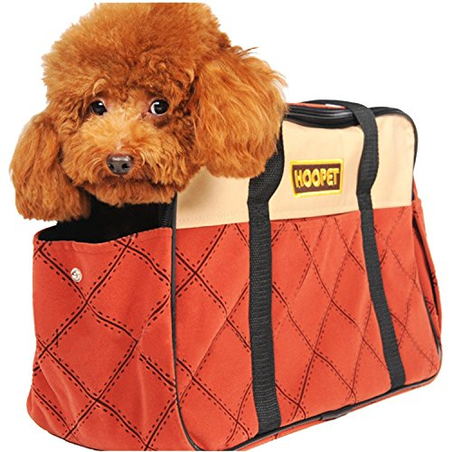 Pettom Airline Approved Pet Cat Dog Carrier Travel Tote Shoulder Soft Bag Purse (M-Hold pet up to 12 lb)