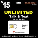 Unlimited Talk and Text SIM Card 30 Day Service