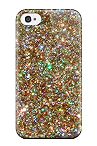 Hot Tpye Glittery Gold Dusts Case Cover For Iphone 4/4s