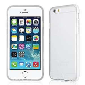 Baseus Fresh Series Ultra Thin Soft TPU Bottom Case Cover + Bumper Frame for iPhone 6 4.7inch (Fresh Series - White)