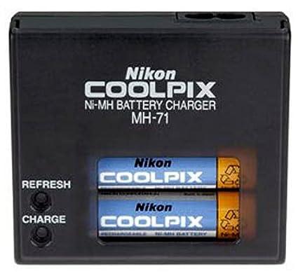 amazon com nikon nimh battery mh 71 charger kit for coolpix l rh amazon com nikon mh 62 manual Nikon D3000 Manual