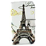 Galaxy Grand Neo Case, StarCity ® Samsung Galaxy Grand Neo i9060 Case, Premium PU Leather Folio Flip Wallet Stand Case Cover with Credit Card Holder For Samsung Galaxy Grand Neo I9060 (Paris Grey)