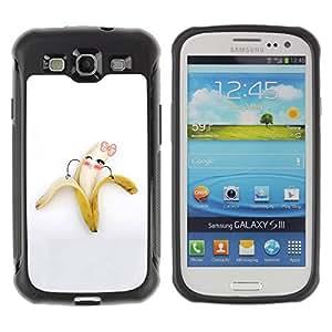 Suave TPU GEL Carcasa Funda Silicona Blando Estuche Caso de protección (para) Samsung Galaxy S3 III I9300 / CECELL Phone case / / Funny Cute Banana Girl /