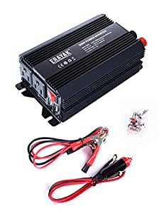 ERAYAK 300W Car Power Inverter Dual US Outlets,3.1A Dual USB Ports w/ Car Cigarette Lighter Cable&Alligator Clips Cable,DC12V to AC110V,for Laptops,DVD players,Music Players,Cell Phones,Tablets-8093