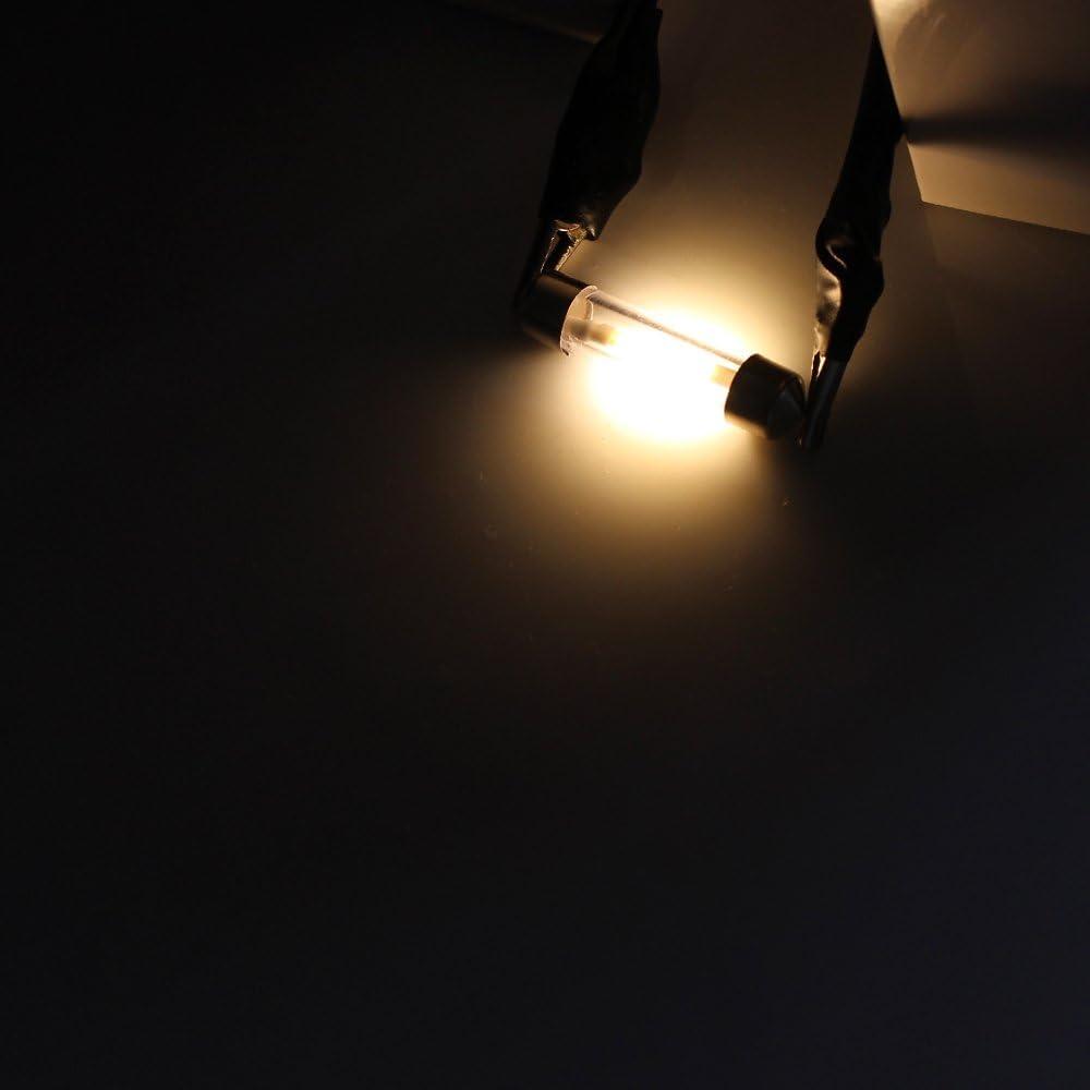 4 Pcs 36mm White LED Car Festoon Dome Light 27mm//31mm//36mm//39mm//41mm 12V 360 Degree COB Filament Lamp Warm White 3000K for Car Reading Bulbs,Interior Lights,License Plate light