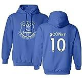 Everton Wayne Rooney #10 Jersey Shirt Soccer Football Men's Hoodie Sweatshirt (Royal,M)