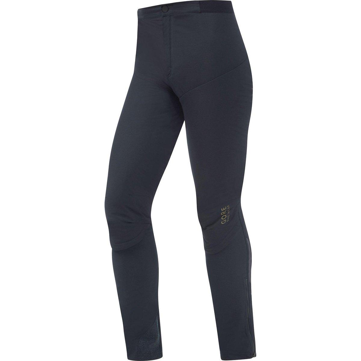 Gore Bike WEAR Men Bike Pants, Long, Gore Windstopper, with Primaloft Insulation, ONE Gore Windstopper Pants, Size: XL, Black, TWIONE