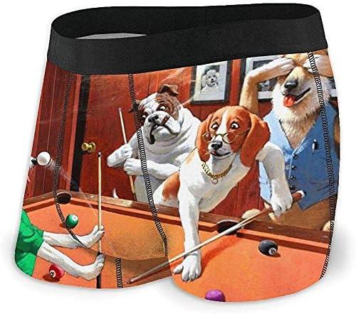 Web--ster Calzoncillos bóxer para Hombre Pantalones Cortos Perros Jugando al Billar Ropa Interior Suave para Perros Divertidos Calzoncillos con Novedad gráfica: Amazon.es: Ropa y accesorios