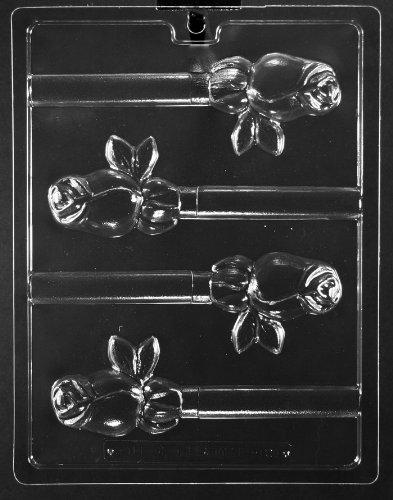 Rose Pretzel Lollipop Chocolate Mold Ships Same Day m200