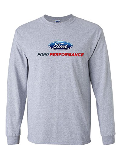 Ford Performance Long Sleeve T-Shirt Ford Mustang GT ST Racing Gray L