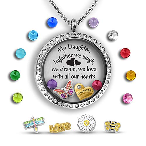 Personalized Daddys Girl - Daughter Necklace From Mom   Daddys Girl Necklace - For Daughter Pendant   Locket Necklaces For Teen Girls Unique Father Daughter Necklace   Daughter Jewelry Gift Personalized Mom Daughter Necklace