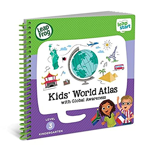 leapfrog leapstart kindergarten activity book kids world atlas and global awareness