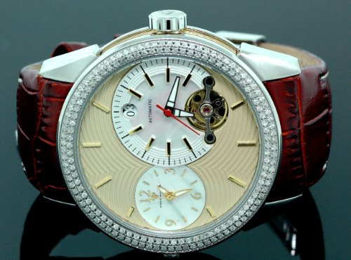 Mens Aqua Master Diamond Automatic Red Watch 1.75 ct w-317d by Aqua Master