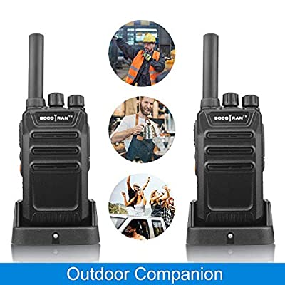 Socotran Two Way Radio UHF FRS Walkie Talkie 400-470MHz Single Band with 2W Output 16 Channels for Outdoor Cruise Camping Hunting 2 Pack