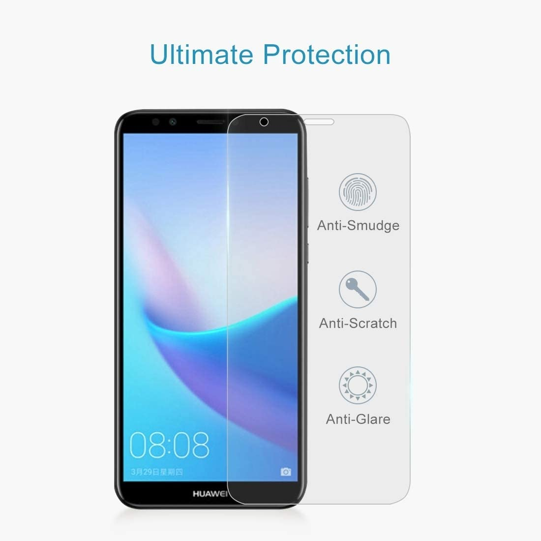 100 PCS 0.26mm 9H 2.5D Tempered Glass Film for Huawei Honor Play 7C Clear YINZHI Screen Protector Film
