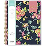 "Day Designer for Blue Sky 2018-2019 Academic Year Weekly & Monthly Planner, Flexible Cover, Twin-Wire Binding, 8.5"" x 11"", Peyton Navy Design"