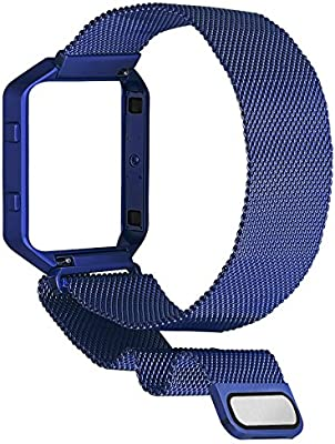 Stainless Steel Milanese Loop with Metal Frame for Fitbit Blaze Bracelet No Tracker SKYLET for Fitbit Blaze Bands