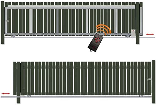 Bauer – Puerta corredera montar H=100, B=480, con accionamiento de S, Verde: Amazon.es: Bricolaje y herramientas