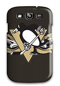 Flexible Tpu Back Case Cover For Galaxy S3 - Hockey Nhl Pittsburgh Penguins