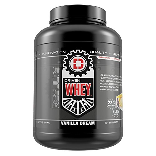 DRIVEN WHEY- Grass Fed Whey Protein: The superior tasting whey protein powder- recover faster, boost metabolism, promotes a healthier lifestyle (Vanilla Dream, 5 ()