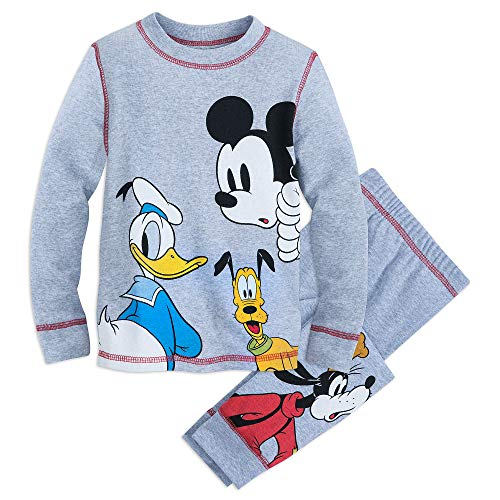 Disney Mickey Mouse and Friends Gray Pajama Set for Kids Size 4 -