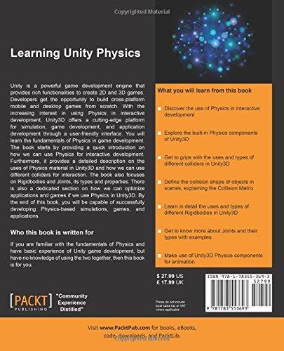 Amazon com: Learning Unity Physics (9781783553693): K  Aava