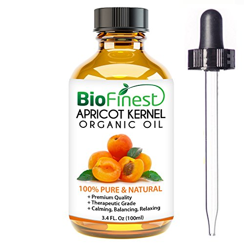 BioFinest Apricot Kernel Organic Oil - 100% Pure Cold-Pressed - Best Moisturizer For Hair Face Skin Acne Cuts Wrinkle Scars Eczema - Essential Antioxidant, Vitamin E - FREE E-Book & Dropper (100ml)