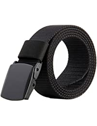 Nylon Canvas Breathable Military Tactical Men Waist Belt With Plastic Buckle