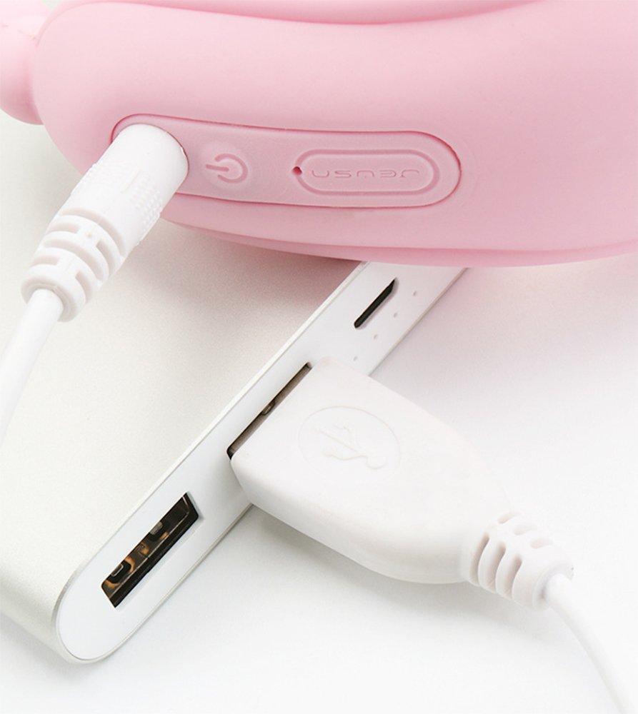 Vibrador Usable Doble Masajeador De Mariposa G-Point Consolador Carga USB Consolador G-Point Más Suave Y Potente Masturbación Grado Médico De Silicona Resistente A Múltiples Modos Y Fuerza Masculino Femenino,Pink b13982