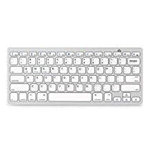 Jelly Comb Universal Bluetooth Keyboard Ultra Slim for All Windows Android iOS PC Tablet Smartphone (Apple iPad Air, iPad 4 / 3 / 2, iPad Mini 2, iPad Mini, iPhone 5S /5C /5 , iPhone 4S/4,Galaxy Tab ,Galaxy Note, Surface & More), Silver