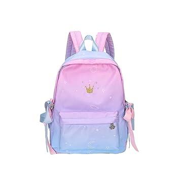 Mochila Escolar Niñas Unisexo, School Backpack para Niñas de 6 a 12 años de edad, Sencillo Vida, Gradient Color: Amazon.es: Equipaje