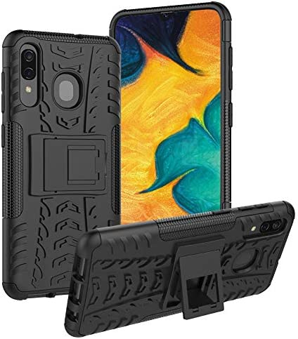 ROISKIN Case Samsung Galaxy A20 Case، Case A Galaxy Galaxy A30، Case A50 Galaxy، TPU Soft Cover TPU Back Cover Cover Rugged Shockproof Dual Layer Heavy Duty Armour Defender Case Case for Galaxy A20 / A30 / A50 (Black)