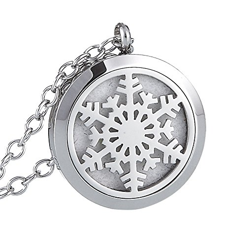 URPOWER Aromatherapy Essential Oil Diffuser Necklace,