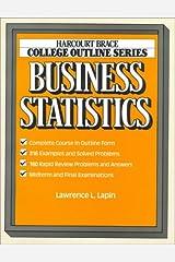 Business Statistics (Harcourt Brace Jovanovich College Outline Series) Paperback