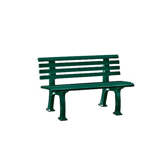 Panchine Da Giardino In Pvc.Panchina Da Giardino Ibiza Verde Blome Amazon It Giardino E