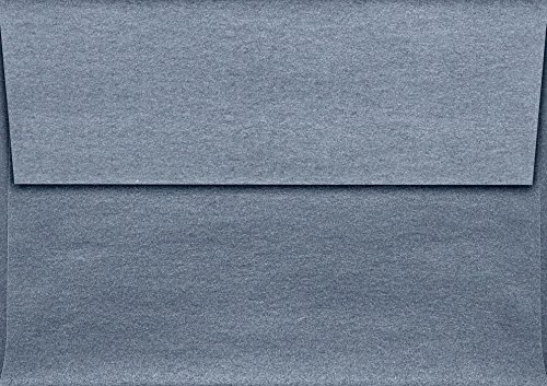 A1 Invitation Envelopes (3 5/8 x 5 1/8) - Anthracite Gray Metallic (50 Qty.)