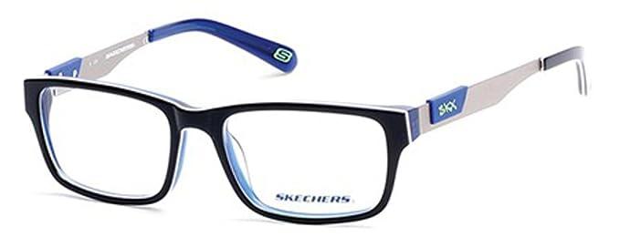 aeb7175cb9 SKECHERS Eyeglasses SE1131 090 Shiny Blue at Amazon Men s Clothing ...