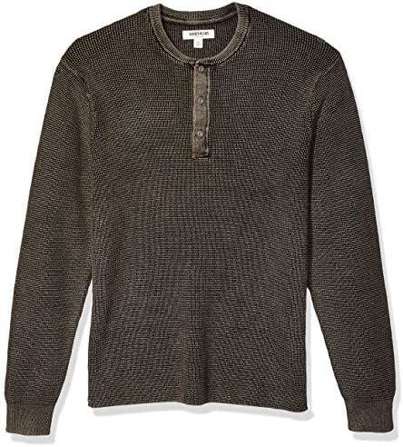 Amazon Brand - Goodthreads Men's Soft Cotton Henley Sweater