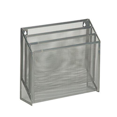 Metal Honey - Honey-Can-Do OFC-03305 Vertical File Sorter Bin, 3.5 x 12.5 x 11.5, Silver