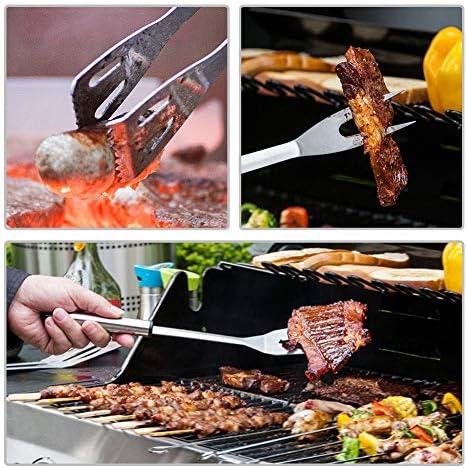 Outils Professionnels De BBQ, Accessoires De Barbecue D'acier Inoxydable Accessoires De Barbecue Avec Le Sac De Toile De Camo Portatif