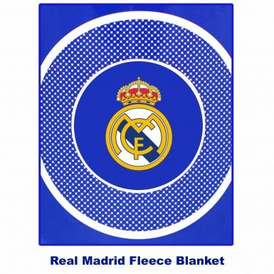 Real Madrid Crest Fleece Blanket product image