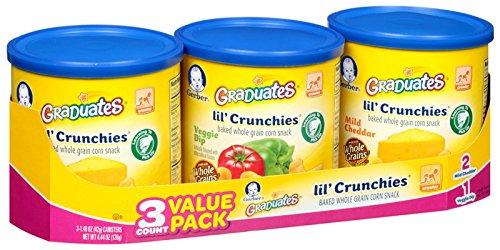 Gerber Graduates Lil' Crunchies - Variety Pack - 1.48 oz - 3 pk