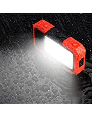 Magnetic Work Light, LED Magnetic Base and Clip Charging Power Supply 500LM COB Flashlight, Multi-Purpose high-Brightness floodlight, Suitable for car Maintenance, Camping, Hiking and Emergency